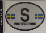 Sweden Country Flag Oval Decal.